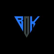 BOK Letter Logo Abstract Design. BOK Unique Design,  BOK Letter Logo Design On Black Background.  BOK Creative Initials Letter Logo Concept. BOK Letter Design.  BOK Letter Design On Black Background.