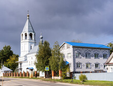 White Church With A Bell Tower