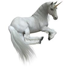 Fantasy Unicorn Isolated On White Background 3d Illustration
