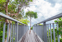 Walkway To The Top Viewpoint Of Koh Hong Island New Landmark To See Beautiful Scenery View 360 Degree, Thailand.
