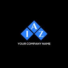 IAZ Letter Logo Design On Black Background. IAZ Creative Initials Letter Logo Concept. IAZ Letter Design.