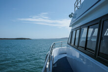 Side Of Ferry Boat On Water Going To Dunwich