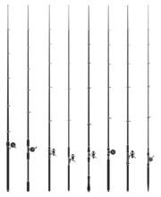Fishing Rod Vector Black Set Icon. Vector Illustration Float Of Bobber On White Background. Isolated Black Set Icon Fishing Rod.