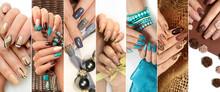 Fashionable Versions Of Nail Art.