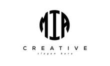 Letter MIA Creative Circle Logo Design Vector