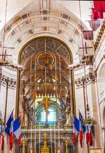 Golden Cross Altar Church Les Invalides Paris France