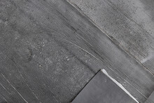 Layed Concrete Waterproofing Sheets On The Stylobate. Roof Covering And Protection From Water And Precipitation. Welded Roll Roofing. Polymer Bitumen