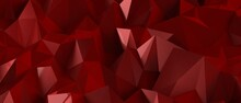 Red Abstract Geometric Triangular Polygon Style Illustration Graphic Background