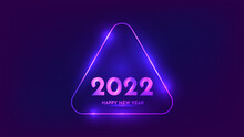 2022 Happy New Year Neon Background