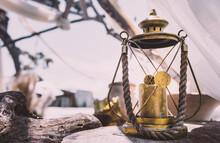 Oil Lamp In The Village