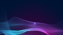 Abstract Dot Blue Purple Wave Gradient Texture Technology Background.
