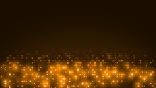 Abstract Dot Orange Yellow Color Wave Pattern Gradient Texture Technology Background.