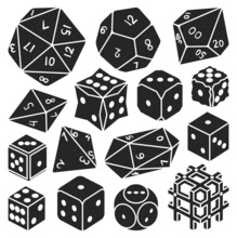 Game Craps Vector Black Set Icon. Vector Illustration Dice On White Background. Isolated Black Set Icon Game Craps.