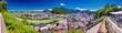 canvas print picture - Blick vom Mönchberg auf die Altstadt von Salzburg, Österreich