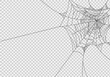 Spiderwebs isolate on png or transparent  background, happy halloween banner, template for poster, brochure, advertising, promotion,sale marketing vector illustration