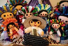 Closeup Shot Of Rag Dolls On A Table