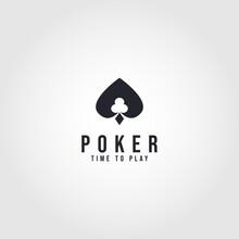 Poker Club Logo Design For Casino Business, Gamble, Card Game, Speculate, Etc