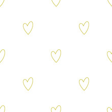 Seamless Vector Hearts Symbol Pattern. Valentine's Day Background. Stylish Pattern For Design, Fabric, Textile Etc.