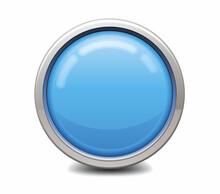 Blue Button Icon