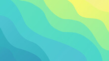 Gradient Abstract Background With Blue And Yellow Waves