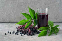 Vitamin Drink Made From Black Elderberry