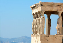 The Erechtheum Is A Greek Ionic Temple From The 5th Century BC, Located On The Acropolis Of Athens.