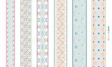 Geometrical Filigree Borders. Color Beauty Ornaments Linear Patterns, Vector Ethenic Ornamental Bkrders, Vintage Craft Colorful Border Lines Vector Illustration