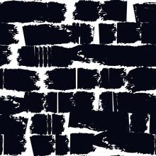 Brushstrokes Motif Print. Paint Brush Smears Seamless Pattern. Freehand Urban Design Background. Trendy Handdrawn Modern Grunge Texture