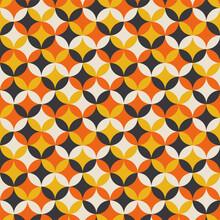 Geometry Seamless Pattern In Yellow And Orange