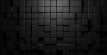 Modern Minimal Black Random Shifted Cube Geometrical Pattern Background Flat Lay Top View From Above