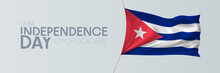 Cuba Independence Day Vector Banner, Greeting Card.