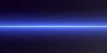 Collection Of Horizontal Light Dividers Blue Flares. Horizontal Dynamic Light Blue Lines. Neon Laser On A Checkered Dark Background. Collection Effect Light Blue Line Png.