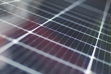Abstract Solar Panels Texture Background. Close-up.