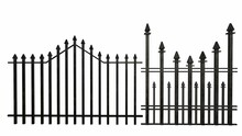 Old Iron Fence On A White Background 3-rendering