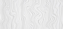 White And Grey Wooden Surface Background. Tree Texture In Linear Style. Vector Wood Background.