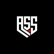 ASS Letter Logo Abstract Design. ASS Unique Design,  ASS Letter Logo Design On Black Background.  ASS Creative Initials Letter Logo Concept. ASS Letter Design.  ASS Letter Design On Black Background.