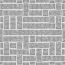 Grunge Seamless Pattern With Horizontal And Vertical Black Segments