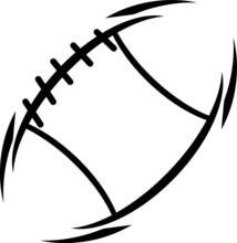 Ball, American Football Line Icon