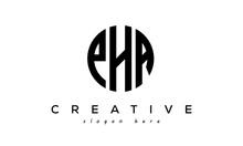 Letters PHA Creative Circle Logo Design Vector