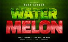 Watermelon Text Effect