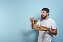 Bearded Man With Beer Alcohol Bar Lifestyle
