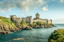 Small Castle (chateau) On The Coast Of Brittany France