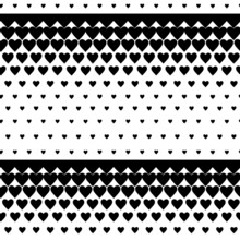 Abstract Black And White Background With A Heart Pattern. The Original Repeating Pattern Of Black Hearts. Background For Scrapbooking.