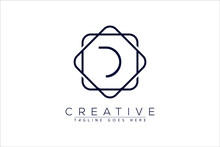 Luxury D Initial Logo Frame Symbol Icon, Luxury And Graceful Floral Monogram Design