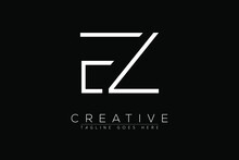 Letter EZ, ZE, Z, E, Abstract Initial Monogram Letter Alphabet Logo Design