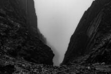 A Cliff Between Two Hills On Ben Nevis