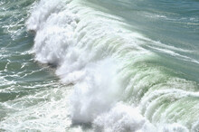 Rolling Wave In Atlantic Ocean Near West Coast Of Portugal