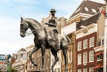 Bronze Statue Of Queen On Horse In Old City