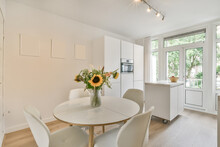 Interior Of Stylish Kitchen In Apartment