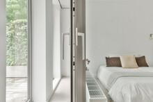 Opened Window In Light Bedroom